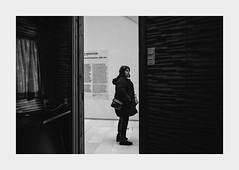 Lost in exhibition... (l1ze) Tags: 28mm blackwhite blackandwhite copenhagen dk danmark denmark kbenhavn leica leicam leicam9p lostinexhibition monocrome smk sjlland zealand blackandwhitephoto blackandwhitephotos bw exhibition l1ze lennartjoern sterbro
