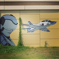 Pretty cool asexual pilot on the side of the highway. #TheWorldWalk #texas #travel #twwphotos