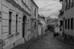 Street (ViktorJoob) Tags: street old city blackandwhite buildings hungary oldman oldbuilding