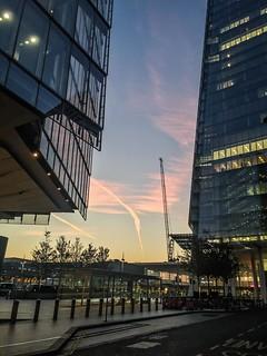 Sun rise over London Bridge Railway Station