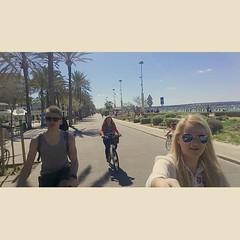 Riding bikes in Mallorca #majorka #bikes... (irminastyle) Tags: bikes polish canadian chill majorka uploaded:by=flickstagram sanduciorba instagram:photo=958837776050077335187243118 instagram:venuename=elarenal2cpalmademallorca instagram:venue=249417954