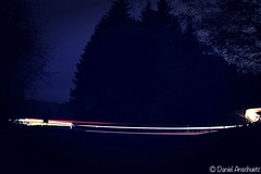 """Red And White Lines In The Woods"" (Anschuetz Photography) Tags: red white lightpainting night canon germany photography eos lights woods slow country midnight slowshutter shutter nightlife photooftheday nightowl spiegelreflex aichwald"