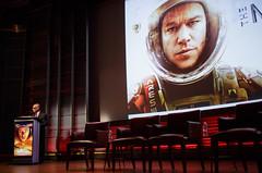 "Screening of ""The Martian"" (NHQ201509290010) (NASA HQ PHOTO) Tags: usa dc washington nasa wasington themartian nationalgeographicsocietyheadquarters grosvenorauditorium charlesbolden joelkowsky"