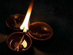 Holy Light (VKoolwal) Tags: india fire lights holy flame diwali jaipur diya