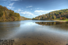 Lake View (Bill Maksim Photography) Tags: park camping lake fall mushroom water creek forest bench photography squirrel wasp state nest pennsylvania dam hike deer foliage valley mineral roads raccoon hive spillway maksim