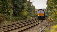 GBRf Class 66/7 no 66762 at Kirkby Crossing on 18-10-2015 with a Portbury to West Burton empty Gypsum train. (kevaruka) Tags: autumn cloud color colour colors clouds train canon outdoors town october flickr colours crossing cloudy outdoor transport shed rail railway dreary trains trainstation 5d 667 frontpage dull britishrail ashfield nottinghamshire mansfield freighttrain kirkby cloudyday 2015 class66 drearyday networkrail railfreight gbrf canonef135f2l canon5dmk3 5dmk3 canonef100400f4556l 5d3 5diii mansfieldstation canoneos5dmk3 ilobsterit