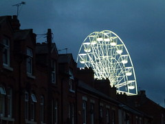 The Big Wheel on Belgrave Road Leicester (KiranParmar) Tags: road chimney sky wheel big leicester belgrave the 2015
