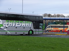 Anyway (stevenbrandist) Tags: bus coach warrington merseyside motorwayservices burtonwood eavesway grayway yj08eag