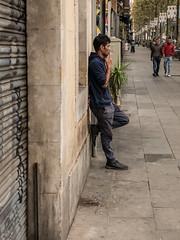 Taking a Break (AB 7) Tags: barcelona street spain break smoking