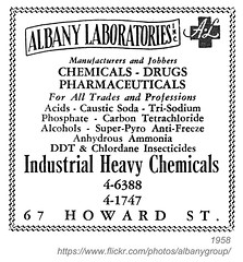 1958 albany laboratories (albany group archive) Tags: albany ny yellow pages ad 1958 laboratories chemicals drugs pharmaceuticals howard street oldalbany history 1950s old vintage photos photographs historical historic