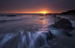 Another day begins. (Elidor.) Tags: sea sunrise dawn waves spittal