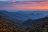 Mountain Sunset (Fraggle Red) Tags: northcarolina greatsmokymountainsnationalpark greatsmokymountains smokymountains smokies nationalpark deepcreekvalley deepcreekvalleyoverlook overlook us441 mountains hills trees fall autumn clouds haze smoke sunset dusk evening hdr 7exp dphdr adobephotoshopcc20155 adobelightroomcc canoneos5dmarkiii 5diii 5d3 canonef24105mmf4lisusm