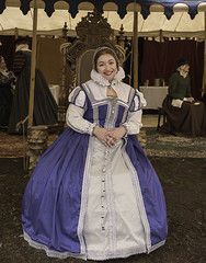 Lady in Blue (dcnelson1898) Tags: folsom california outdoors renaissancefair event costume joust tudor medieval