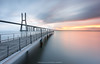 Gentle Sunrise (Henrique J.Silva) Tags: ponte vasco gama portugal river lisbon landscape architecture landscapesdreams henriquesilva leefilters longexposure reflection smooth tejo lisboa