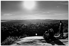 The reward of the climb (toddrappitt) Tags: blackandwhite bw august vegetarian6 scenery scenic beautiful nature clifftop trails trees forest provincialparks algonquinpark ontario canada t4i rebel canon