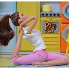 day 6 a (pinkperfectplasticworld) Tags: djy08 barbie pink perfect plastic world int jour day nikon doll dolls poupée poupées puppen bambole poppen bonecas dockor nuket dukker 芭比 yoga ヨガ йога 요가 瑜伽 blue top fitness bambi made move mtm 2015 muñeca muñecas mattel 16 sport バービー