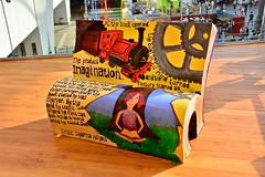 Birmingham Book Benches (Martin Pettitt) Tags: city bookbenches nikond7100 painted uk westmidlands august summer book birmingham books daytrip art dslr afsdxvrzoomnikkor18200mmf3556gifedii