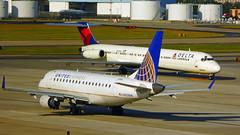 Atlanta domestic Airport  United & Delta (tempoworld.net) Tags: atlanta airport airplane aircraft united delta embraer mcdonnel