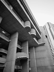 Rudolph's Lindemann Facade (iMatthew) Tags: brutalism brutalistarchitecture architecture bostonarchitecture boston governmentcenter bw