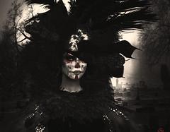 Da de Muertos (Eurdice Qork) Tags: model fashion secondlife sl photoshop ps photomanipulation virtual catrina dademuertos dayofdeath halloween fantasy tradition