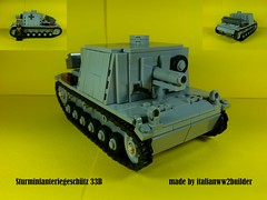 SiG 33B (italianww2builder) Tags: lego ww2 tank custom german panzer stug sig 33b infantry cannon battle war