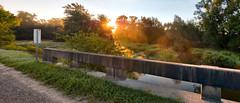 Cox Creek Bridge (virgil martin) Tags: panorama goldenhour landscape creek mist coxcreek wellingtoncounty ontario canada olympusomdem5 oloneo microsoftice gimp
