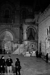 DSCF9666 (Joshua Williams' Photography) Tags: jerusalem israel bw night oldcity