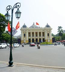 Hanoi Opera House with Lamp (Neil Noland) Tags: vietnam hanoi oldquarter