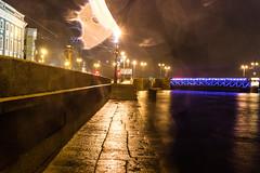 The kite `s ghost  -    (Valery Parshin) Tags: russia ingermanland river stpetersburg saintpetersburg night neva valeryparshin canoneos600d canonefs24mmf28stm city light petersburg pleinair vasilyevskyisland bridge
