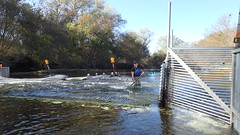 Cleaning Off a Fish Counting Weir