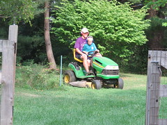 IMG_6106-091016 (octoberblue13) Tags: lawn mowing riding mower johndeere