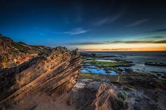 Bridgewater Bay, Mornington Peninsula, Victoria (Chas56) Tags: ngc landscape seascape ocean coast morningtonpeninsula bridgewaterbay canon canon5dmkiii water beach sea sunset dusk rocks rock cliff cliffs