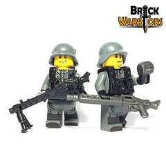 Hitler's Buzzsaw Detail (BrickWarriors - Ryan) Tags: brickwarriors custom lego minifigure weapon helmet armor gun hitlers buzzsaw machine germany ww2 world war