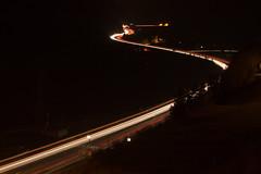Verkehrswege ber die Alpen bei Dunkelheit (stefanjoerger) Tags: wassen gotthardnordrampe autobahn autobahna2 schweiz langzeitbelichtung nationalstrasse uri nacht