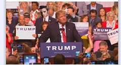 Elvis at Trump rally (dylan.unknown5150) Tags: elvis photoshop wtf trump rally politics make america great again