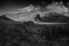 The Chapel (MarkWaidson) Tags: cwmorthin slate quarry chapel derelict imagesfromthedarkside waidson panorama niksilver mono blackandwhite