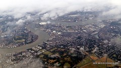cloudy London (Nick Air Photography) Tags: img7723 fromabove london thames londonpanorama cloudylondon nickairphotography canoneos6d greenwichpeninsula o2arena flying