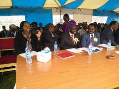 Bosto Primary School in Bomet County, unveiling model classroom, 19th July,2015