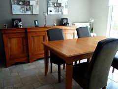 Séjour avant (Ambiances Bois & Patines) Tags: france table bretagne peinture buffet chaise séjour relooking pillotou ambiancesboispatines