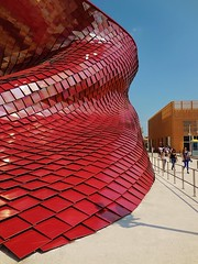 scales of the dragon (SM Tham) Tags: china red italy milan architecture corporate dragon chinese scales pavilion daniellibeskind cladding ceramictiles vanke expomilano2015
