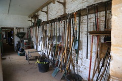 Gardners tool shed at Tyntesfield (shaunmartin366) Tags: nationaltrust gardner spades brooms toolshed rakes tyntesfield