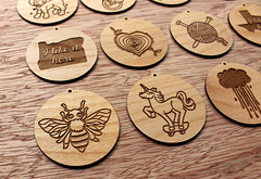 BreadAndBadger2339 (thea superstarr) Tags: seattle wood work handmade pdx custom pnw alder madeinusa lasercut pacficnorthwest laserengraved breadandbadger 6by6arts