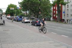 Sykkelfelt Kjpmannsgt. 0021 (Miljpakken) Tags: trondheim rdt sykling bymilj gatemilj miljpakken syklister bygate bytransport bytrafikk miljopakken sykkelveg sykkelanlegg bysykling