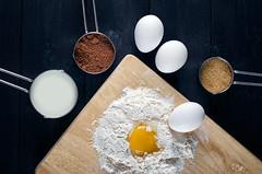 To Dough 2 (Khaled A.K) Tags: photography baking dough surface cups half eggs third quarter flour bake making khaled yolk kashkari