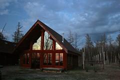 Reflections (Marianna Gabrielyan) Tags: house lake reflection beach minnesota clouds canon dusk vermilion soudan xti canon1855mmf3556 400d