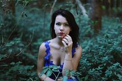 Fairy Tale (Eva Carollo Photography) Tags: wood blue portrait nature girl beautiful beauty fashion horizontal forest pose photo model woods eva dress outdoor lace dream passion conceptual lacedress conceptualize carollo photolovers photolover evacarollophotography gloriazordan