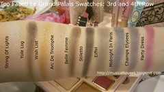 Too Faced Le Grand Palais Swatches Eyeshadows Row 3 4 (musicalhouses) Tags: christmas swatch makeup highlighter blush cosmetics bronzer swatches eyeshadows toofaced