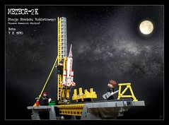 Meteor-2K (polish meteorological rocket, 1970) (Karwik) Tags: lego space polska line rocket kosmos meteor launcher meteo karman leba rabka prl łeba meteorological w120 stacja meteorologiczna wyrzutnia rąbka meteor2 sondazu meteor2k sondażu rakietowego