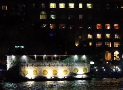 Windows (Khaled M. K. HEGAZY) Tags: nikon coolpix p520 giza egypt nature outdoor closeup yellow blue brown white orange black nile river water boat building window light night نهر النيل ماء ضوء أضواء نافذه نوافذ قارب قوارب