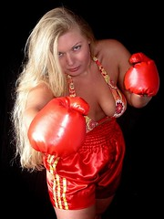 Sexy boxer (Paula Satijn) Tags: red hot sexy girl beauty hair shiny pretty babe gloves blond blonde stunning boxer shorts boxing satin silky